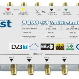 Multiswitch BEST HQMS 9/8 + zasilacz impulsowy