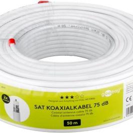 Kabel Koncentryczny RG6 Goobay 2xEKR 75dB CCS 50m