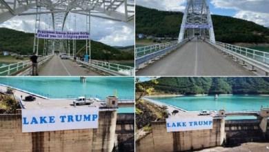 Photo of Gazeta beogradase: Serbët e Kosovës vendosin mbishkrime për Trumpin në Liqenin e Ujmanit dhe mbi urën e Bërnjakut