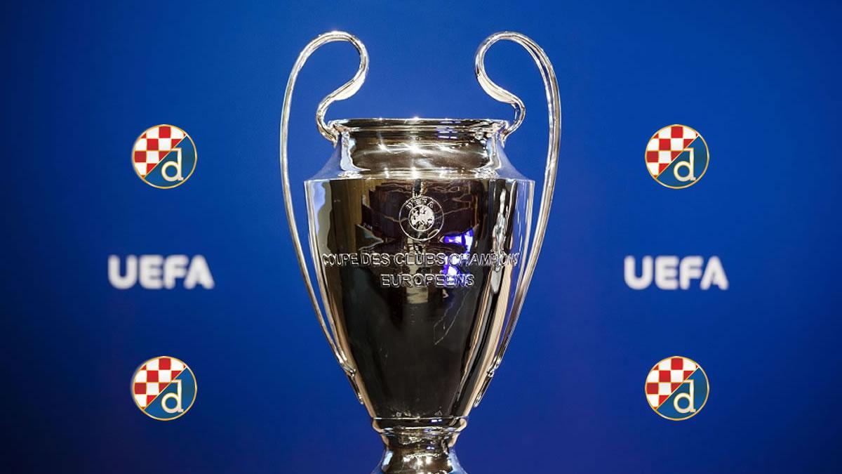 uefa champions league trophy / dinamo zagreb / 2019
