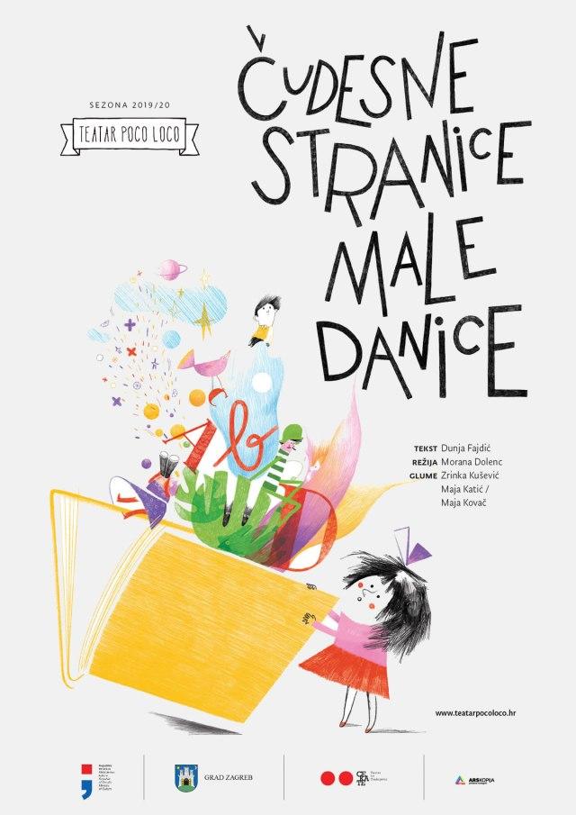 """plakat """"čudesne stranice male danice"""" / teatar poco loco / 2019"""