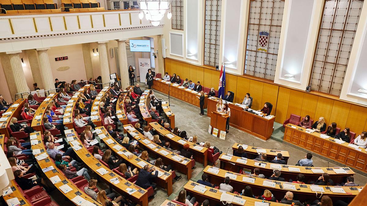 svjetski dan djeteta - sjednica djece i zastupnika hrvatskog sabora 2019