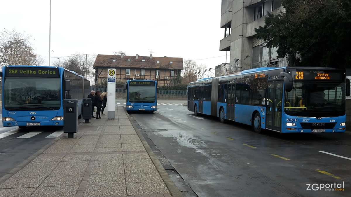 autobusni terminal glavni kolodvor zagreb / siječanj 2020.