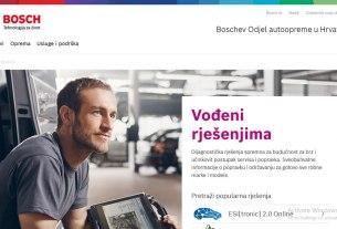 bosch - automobilska oprema - nova web stranica boschaftermarket.hr - 2020
