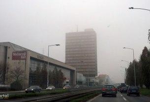 magla u zagrebu - slavonska avenija, zagreb - studeni 2014