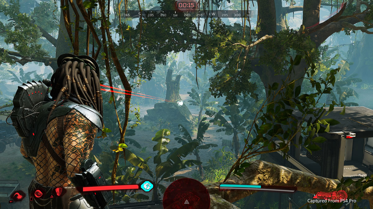 Predator: Hunting grounds - Plasma caster shot - Playstation game 2020.