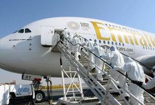 emirates - dezinfekcija zrakoplova - 2020