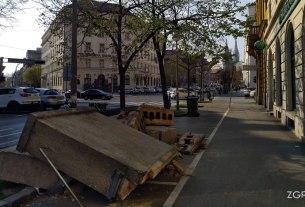 posljedice potresa - ulica franje račkog, zagreb - travanj 2020.