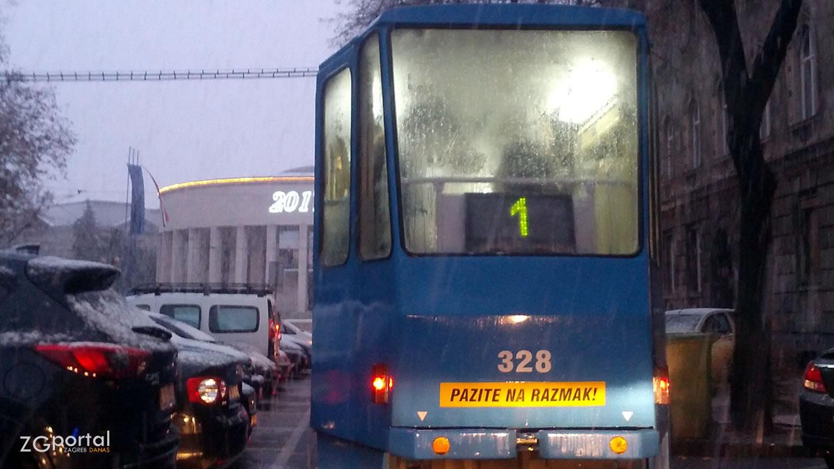 tramvajska linija 1 - zet zagreb - siječanj 2017.