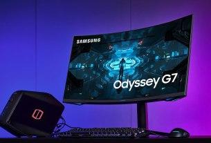 gaming monitor samsung odyssey g7 2020