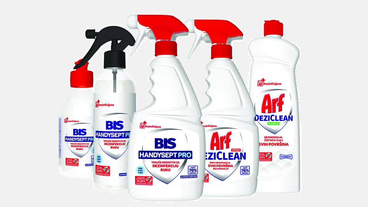 saponia - bis handysept i arf dezi-clean - sredstva za dezinfekciju - 2020