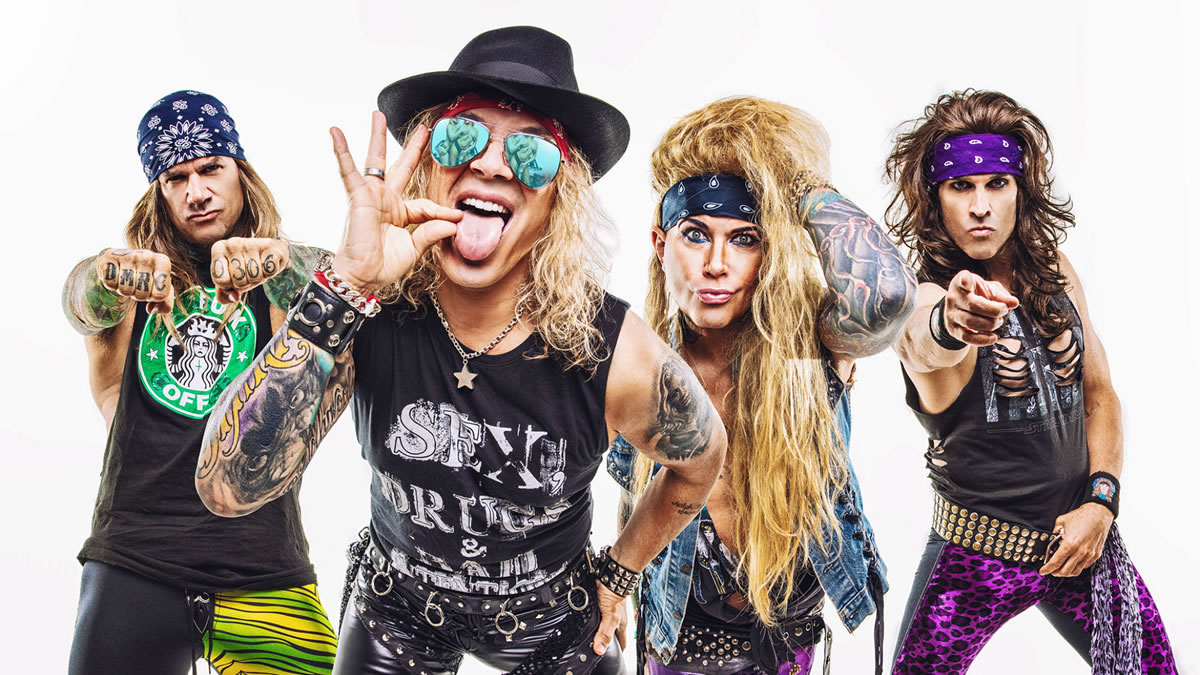 steel panther - glam metal band - los angeles 2020