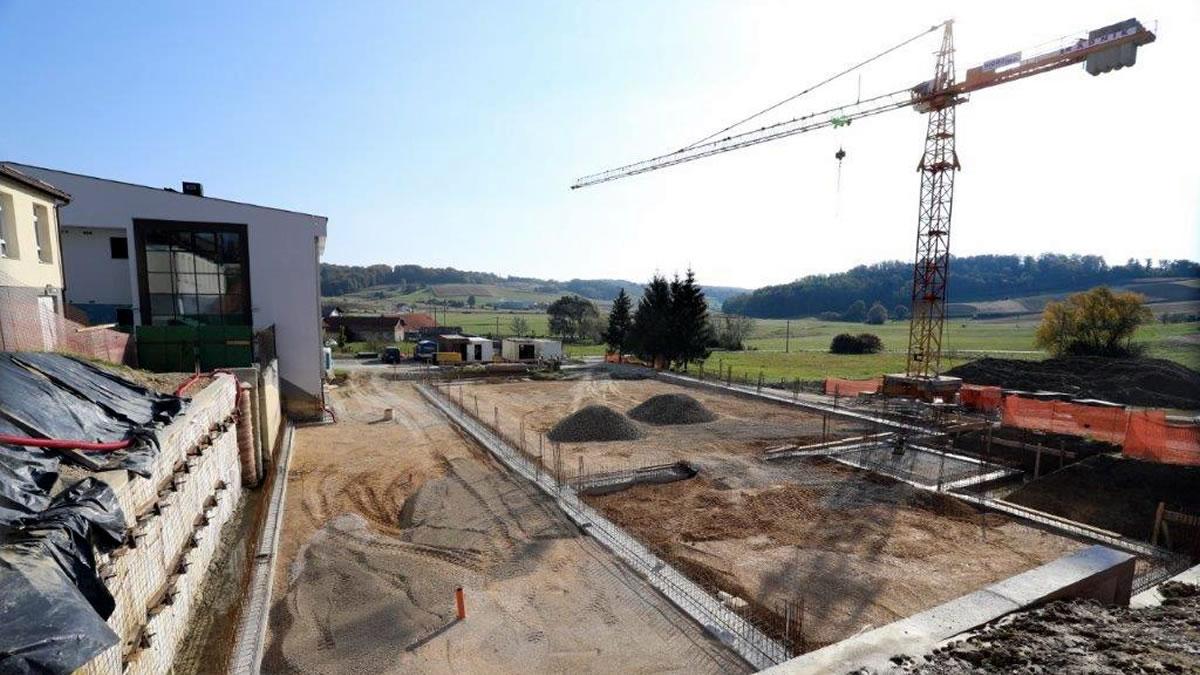 gradilište sportske dvorane - oš bedenica - listopad 2020.