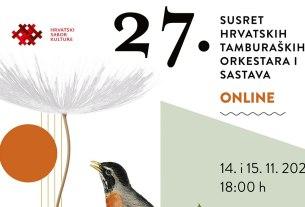 27. susret hrvatskih tamburaških orkestara - 2020