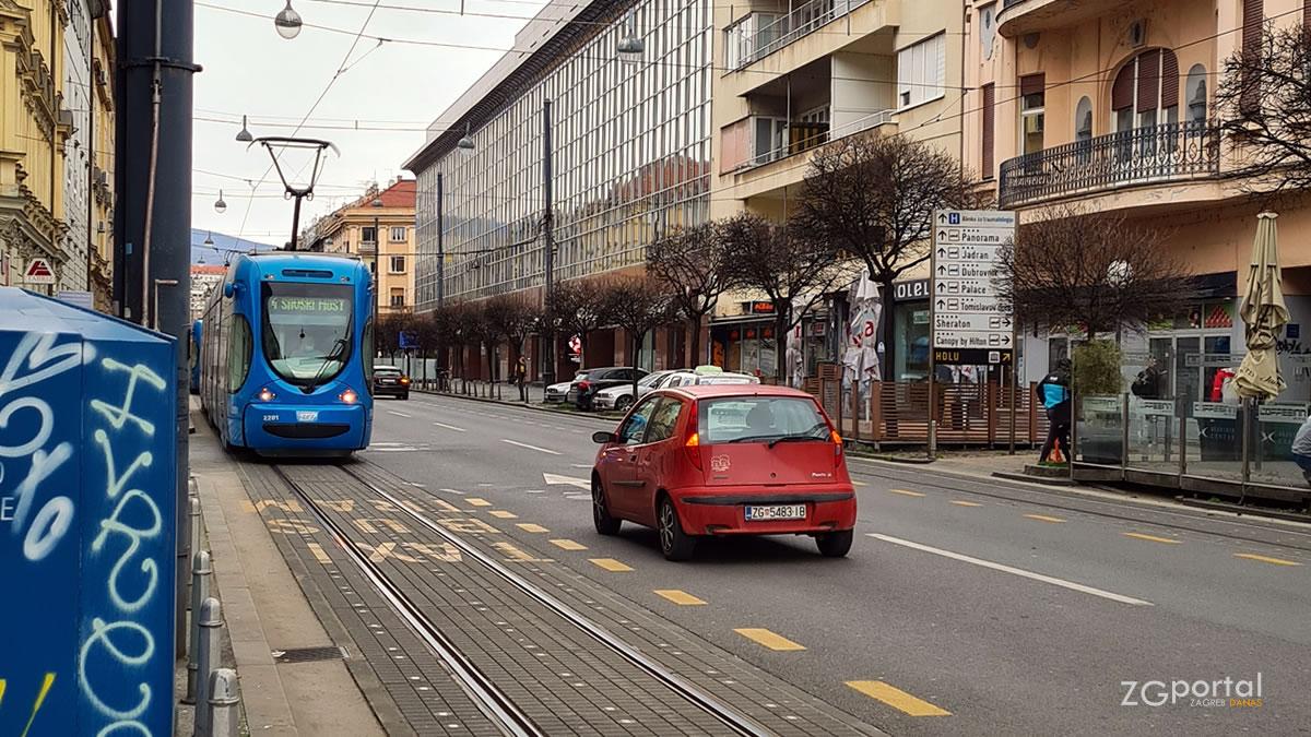draškovićeva ulica, zagreb / veljača 2021.
