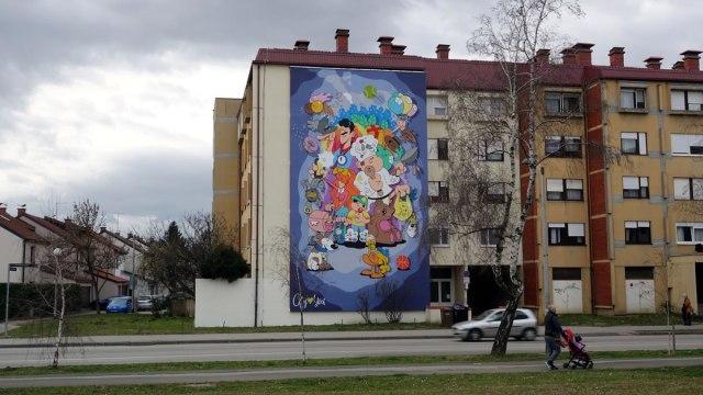 """mural """"špansko"""" zagreb - city street art - 2021."""