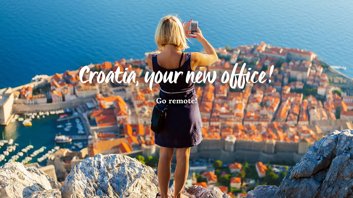 croatia, your new office! go remote! / dubrovnik, croatia / 2021.
