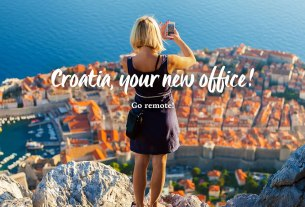 croatia, your new office! go remote! / dubrovnik, croatia / 2021.
