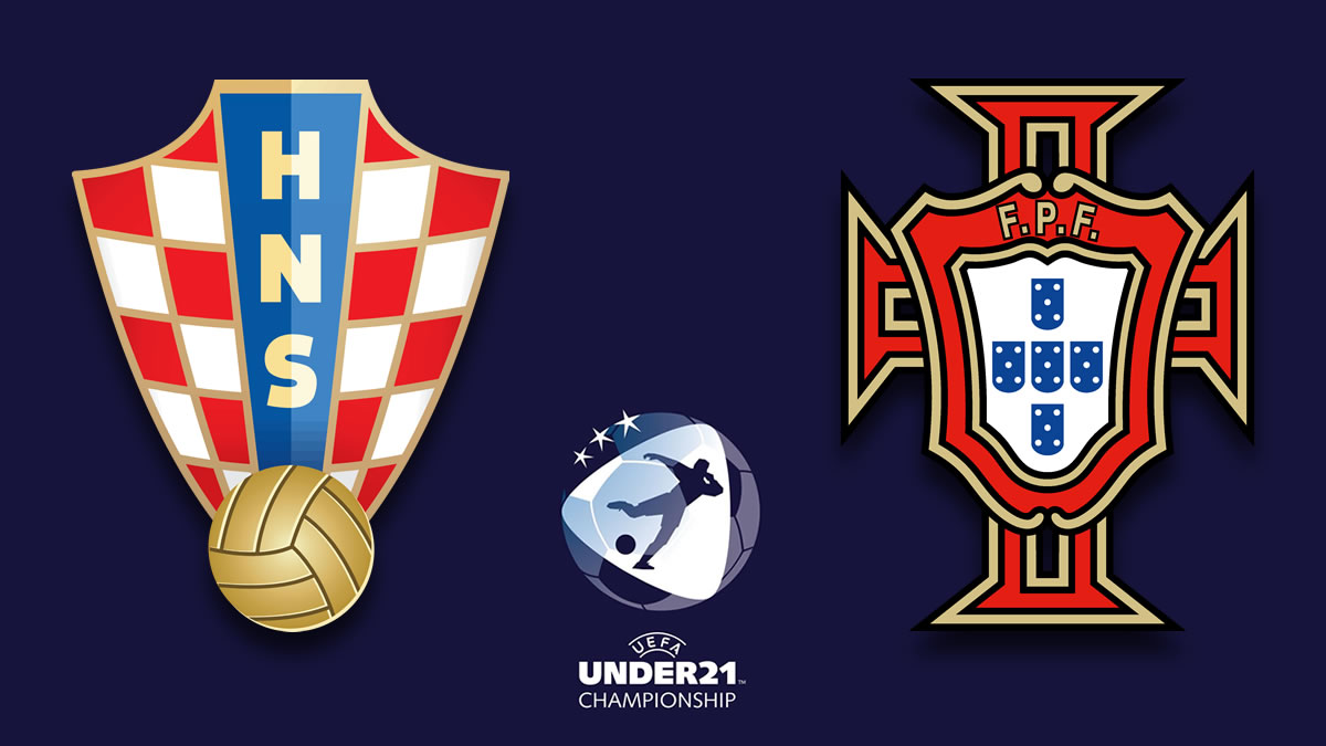 hrvatska (croatia) - portugal - euro u21 - slovenia - hungary - 2021.