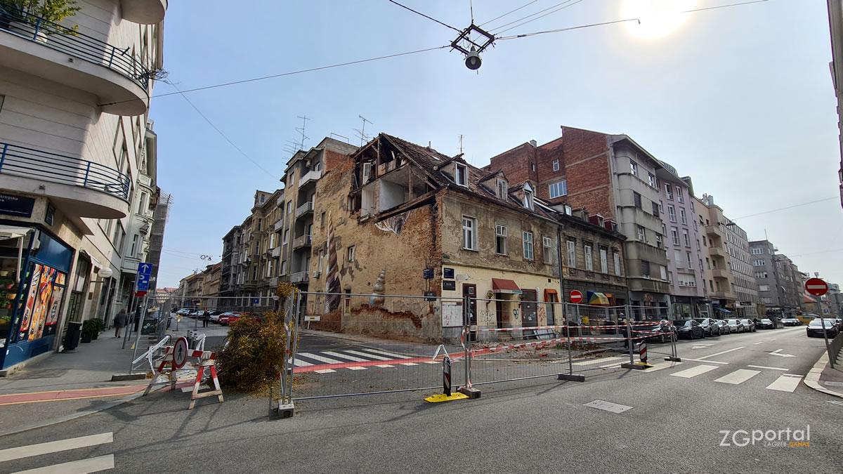 potres u zagrebu - srušena zgrada na križanju petrinjske i đorđićeve - ožujak 2021.