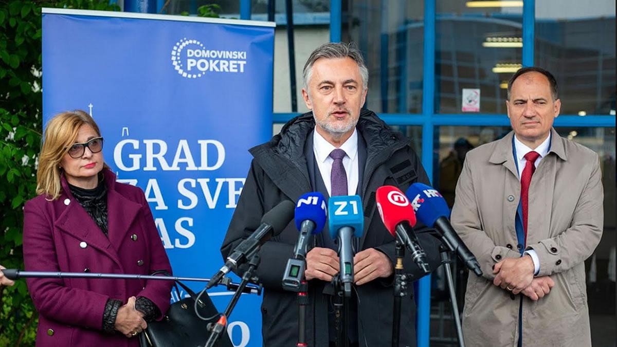 miroslav škoro, ana lederer i slaven dobrović / domovinski pokret zagreb / travanj 2021.