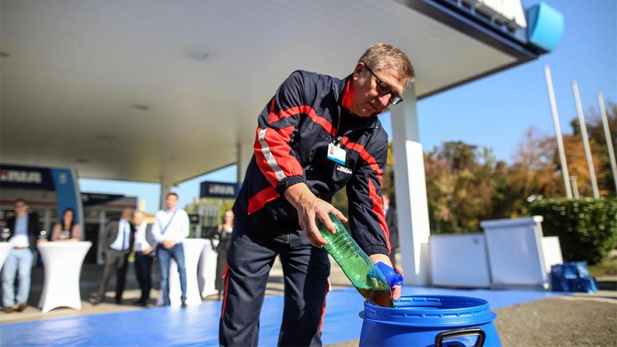 recikliranje - otpadno jestivo ulje - ina benzinska pumpa - 2021.