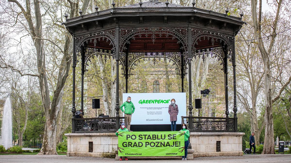 #zazelenigrad - glazbeni paviljon zrinjevac, zagreb - greenpeace hrvatska - 2021.