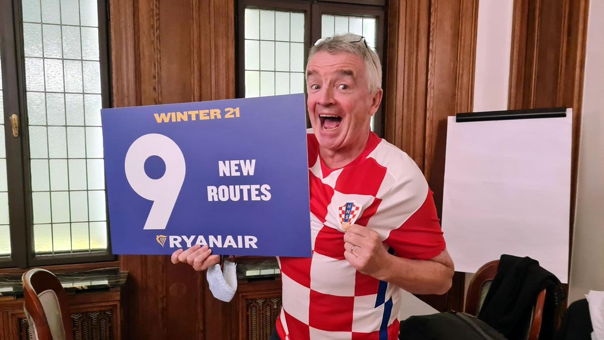 michael kevin o`leary - ceo ryanair - zagreb croatia - 2021.