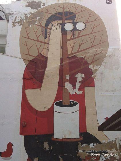 Agostino Iacurci. Patio interior de la Calle Las Armas