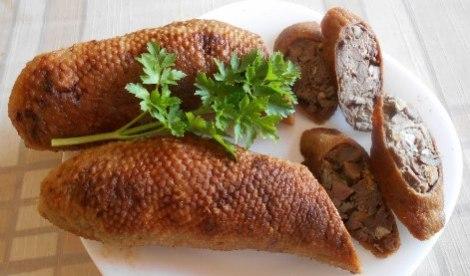 Домашняя колбаса из гуся. Формируем без кишок, запекаем в духовке.