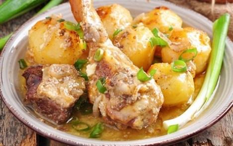Гусь по-татарски рецепт в духовке. Сочное гусиное мясо с картошкой.
