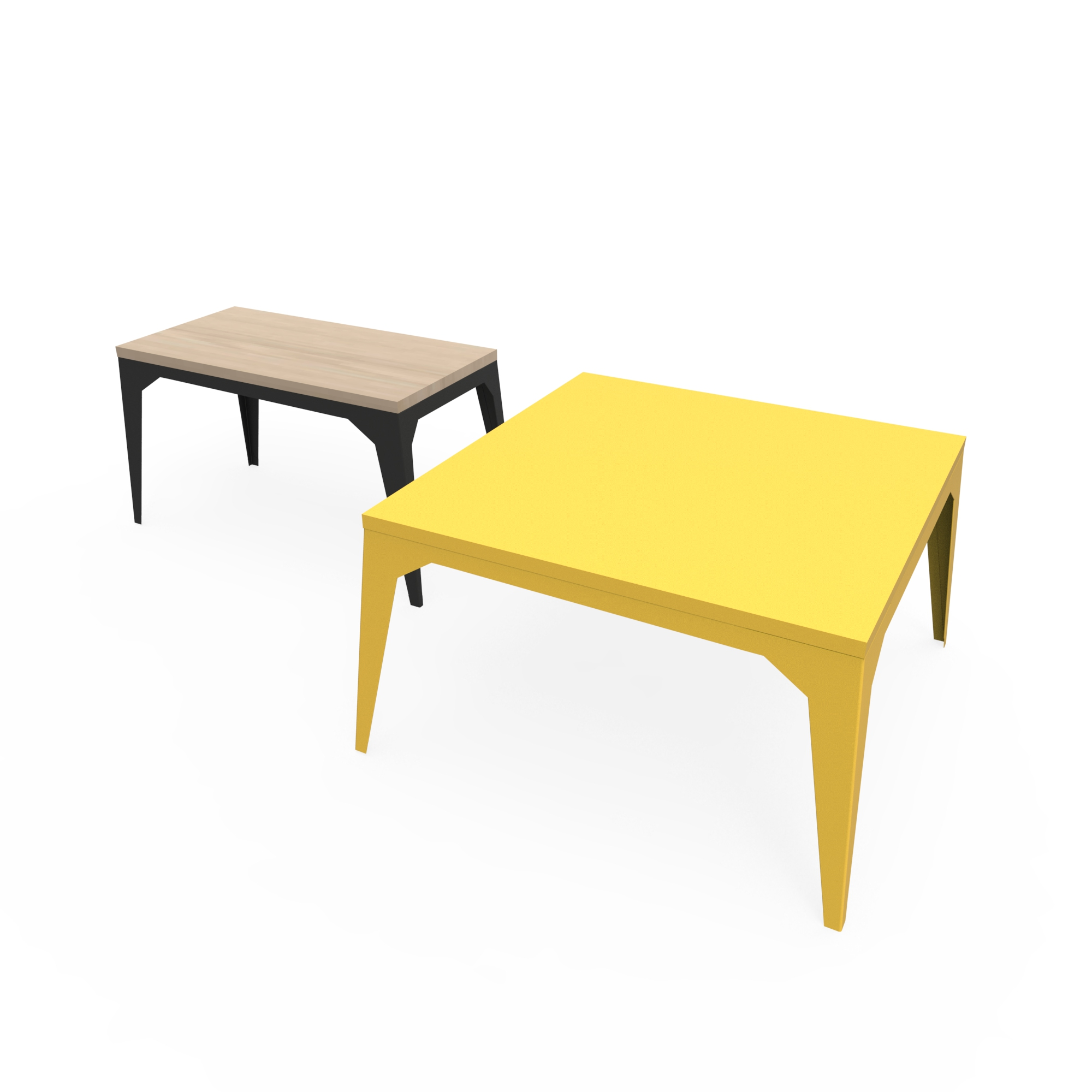 Cuatro coffee tables zhed for Table basse 100x100