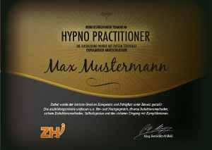 Hypno Practitioner Zertifikat