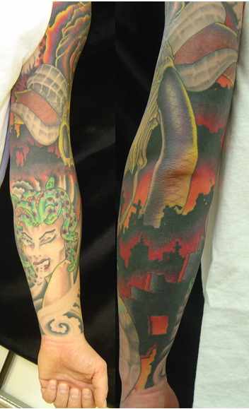 Looking for unique Tattoos Post Apocalyptic sleeve