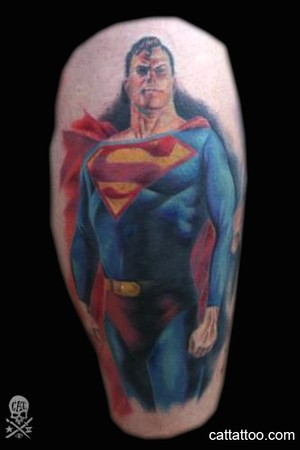 Jessi recently wrote to me about this Superman silhouette tattoo she had