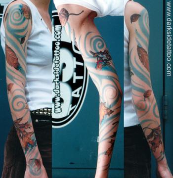 Tattoo Galleries: Pixel Sleeve Tattoo Design
