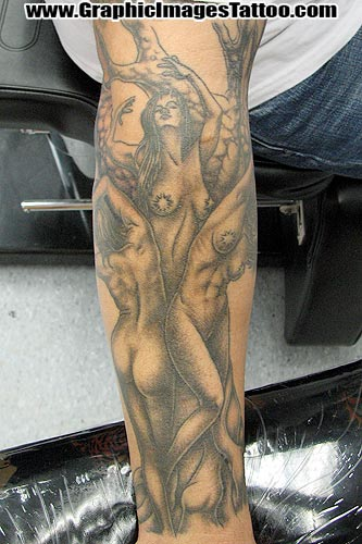 Sean Ohara - Tree Ladies Half Sleeve. Tattoos