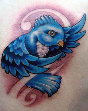 Bird tattoos are generally rife with meaning of their own; however,