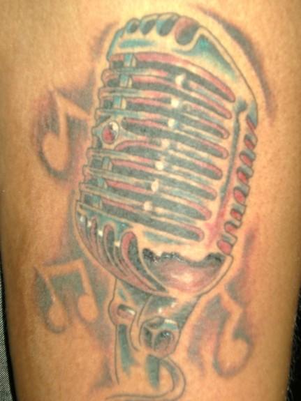 old school microphone tattoos. free tattoo flash pics aztec symbols tattoos