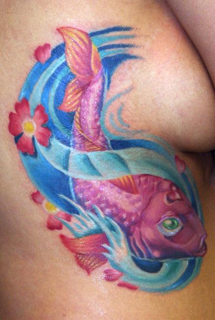 Feminine Koi Fish Tattoos Click Here to Read More Feminine Koi Fish Tattoos