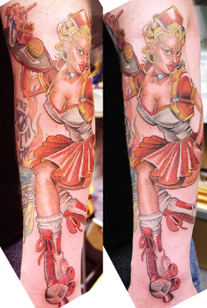 Tattoo Galleries: Car Hop Tattoo Design