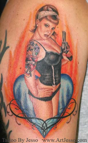Keyword Galleries: Color Tattoos, Portrait Tattoos, Pin Up Tattoos,