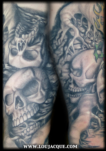 Looking for unique Original Art tattoos Tattoos? Skulls and Roots in dirt