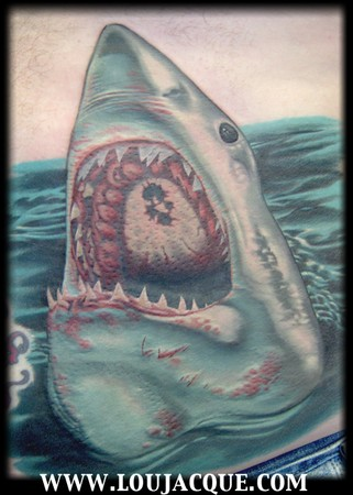 Looking for unique Portrait tattoos Tattoos? Shark on Belly