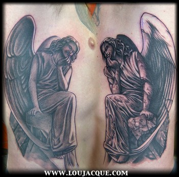 Looking for unique Realistic tattoos Tattoos? Opposing Angels