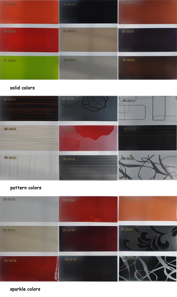 Metallic acrylic laminated sheet for middle east market