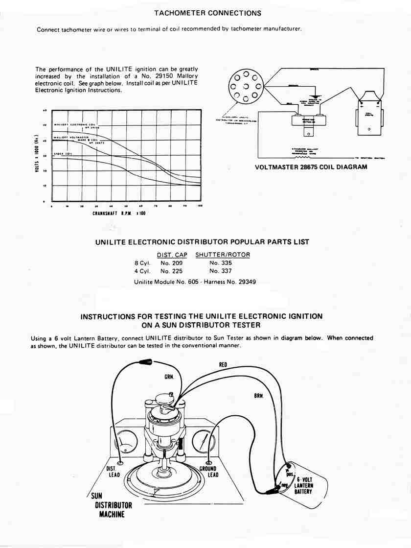 sun tach 2 wiring diagram wye delta motor starter mallory unilite hook up for 72 datsun 240z