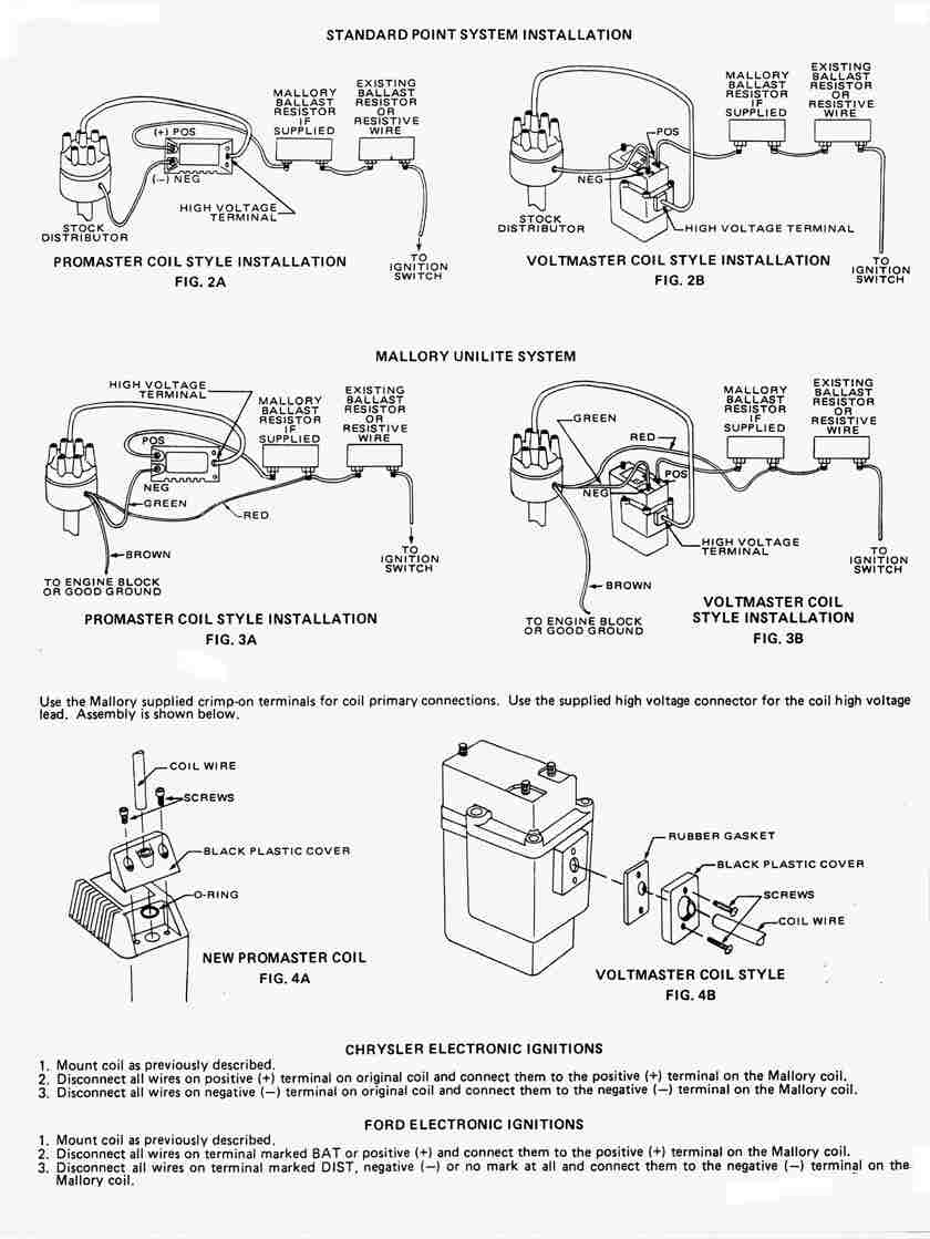 Mallory Promaster Coil Wiring Diagram - Wiring Diagram Directory on