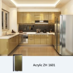 Acrylic Kitchen Cabinets Samsung Appliance Package High Gloss Cabinet Customized Sliding