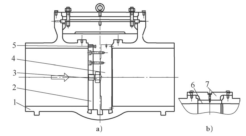 Structure type of cast steel gate valve and block valve